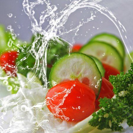 Pan Chiatto ensaladas con verduras seleccionadas